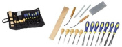 GHP 18 Pcs Professional Wood Carving Set Kit with Storage Pouch