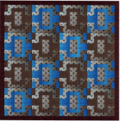 Easy Quilt Chained Neutral/Blue and Brown