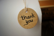 300 Pieces Thank You Kraft Paper Hang Tag