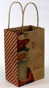 Expressive Designs Kraft Gift Bag - Cub Size - Christmas Santa