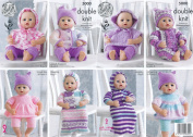 King Cole Double Knitting DK Pattern for Premature Baby or Dolls Clothes & Sleeping Bag