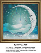 Frosty Moon, Fantasy Surreal Counted Cross Stitch Pattern
