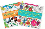 Adult Colouring Book Value Pack (Butterflies & Floral) 2 Pack