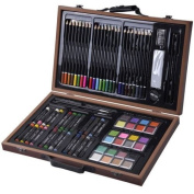 80-Piece Deluxe Art Set Drawing And painting w/ Wood Case & Accessories