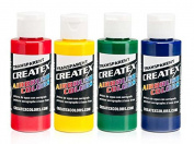 Createx Colours Airbrush Paint - 4 Primary Set - 60ml
