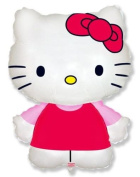 Hello Kitty Shaped Supershape Foil Balloon - Pink Dress