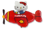Hello Kitty Red Plane Shaped Supershape Foil Balloon