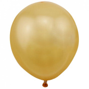 Aimeart Multicolor Pearly Lustre Latex 1.2g Round Balloons For Wedding Party Room Decor, Gold