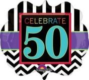 Anagram International Birthday Celebration 50 Balloon, 60cm , Multicolor