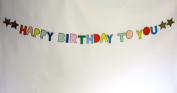 Meri Meri Multi-Colour Glittered Happy Birthday Banner