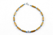 Healing Hazel Hazelwood Children Necklace Boy Pendant, Metallic Pendant/Turquoise/Hematite