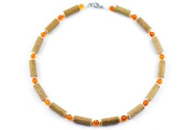 Healing Hazel Amber Children Necklace, Orange/Amber