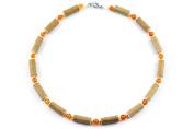 Healing Hazel Amber Children Necklace, Orange/Amber
