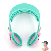 Adjustable Waterproof Shower Baby Cap Shampooing Shield Hat with Ear Muff