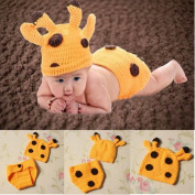 Baby Costume Photography Prop Knit Fawn Hats Cloak Outfits