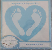 Footprint Canvas, Blue