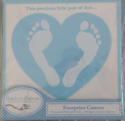 Footprint Canvas, Blue