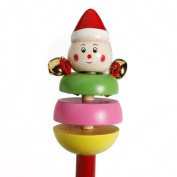 Cute Cartoon Animal Musical Wooden Baby Toy Hand Ring Bell