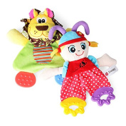 Baby Infant Soft Appease Playmate Calm Doll Teether Developmental Rattle Toy