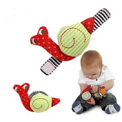 Infant Baby Kids Wrist Watchs Cute Snail Hand Rattles Finders Development Toys