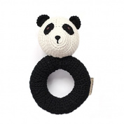 Organic Newborn Toys - Panda Baby Rattle