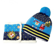 MEYKISS Infant Kid Baby Girl Boys Christmas Knitting Beanie Hats with Scarf Set
