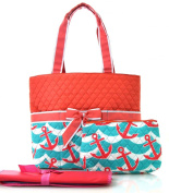 anchor splash print quilted nappies bag