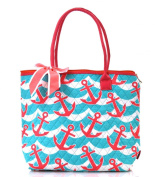anchor splash quilted tote