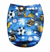 "See Nappies Bamboo Charcoal One Size Baby Cloth Nappy 2 Bamboo Inserts "" Sports """