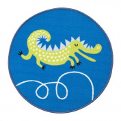 BULLRIG Rug, low pile, blue /Children