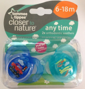Closer To Nature Any Time Soother Twin Pack - 6-18M Vehicles