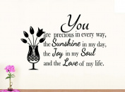 Wall Vinyl Decal You are precious in every way the sunshine in my day vinyl saying lettering wall art inspirational sign wall quote decor