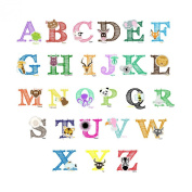 Easy Peel and Stick Animal Alphabet Wall Decal Stickers #3015