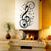 Sealive Music Sign Musical Notation Removable Wall Sticker Decal Kids Boys Girls Room Baby Nursery Home Decor Room Background Art