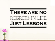 Wall Vinyl Decal There are no regrets in life just lessons vinyl saying lettering wall art inspirational sign wall quote decor