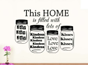 Wall Vinyl Decal This home is filled with lots of love joy kindness kisses vinyl saying lettering wall art inspirational sign wall quote decor