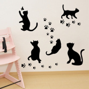 Aiwall 9302 Cat Wall Stickers for Bedroom Room Living Room Girl Room Decorations Wall Decals Wall Cartoon