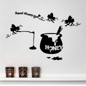 Aiwall 9300 Honey Removable Vinyl Wall Sticker Mural Decal Art Stickers for Dining Room Living Room Girl Room Decorations