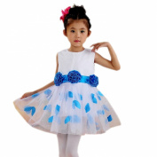 Collager Satin Bodice Communion Flower Baby Girl Pageant Petal Dress