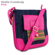 Mad Style 317830 Shellie Crossbody, Blue Denim & Pink