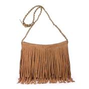 Bao Core Womens Hippie Suede Retro Vintage Fringe Tassle Faux Leather Shoulder Bag Messenger Crossbody Handbag