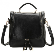 S ZONE Ladies Small Leather Cross Body Handbag Backpack