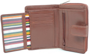 Ladies / Womens Large Soft Leather Bi-Fold Credit Card / Money Wallet