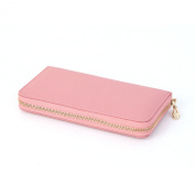 Womens Bailey Leather Single Zipper Large Capacity Big Useful Purse Long Wallets