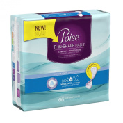 Poise Thin-Shape Moderate Absorbency Pads, Regular Length, 66 Count
