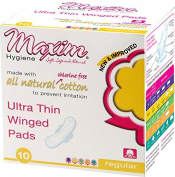 Natural Ultra Thin Pads, Daytime Natural Ultra Thin Daytime Pads, Winged, Individually Wrapped, 10 Count