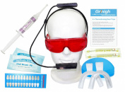 Grinigh® Home Teeth Whitening System with Hairband Accelerator Light   Deluxe Hair Band Kit with 10 Treatments of 6% Hydrogen Peroxide Gel