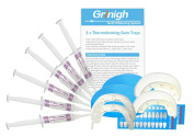 Grinigh® Home Teeth Whitening System with Soft Non-Boil Mouth Trays | Essentials 2 Person Kit with 26 Treatments (13 each) of Non Peroxide Gel
