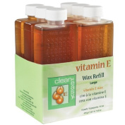 Clean & Easy Wax Refill 6-pack Large Vitamin E 500ml by AII