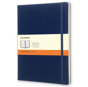 Moleskine Classic Notebook, Extra Large, Ruled, Prussian Blue, Hard Cover